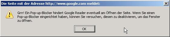 Google-Fehlermeldung