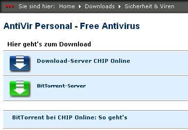 Bittorent bei Chip Online