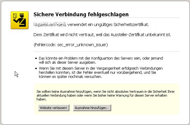 SSL-Fehler in Firefox 3